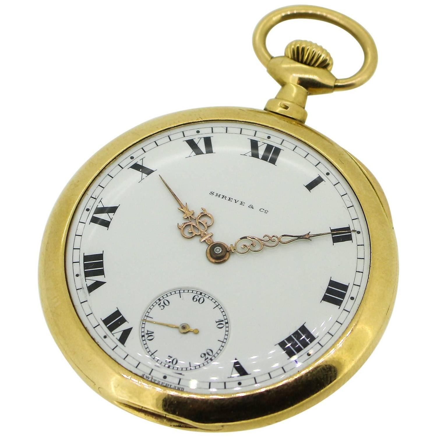 1905 patek philippe and shreve and co 18k yellow gold