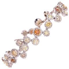 GIA Certified Fancy Diamond Bubbles Bracelet