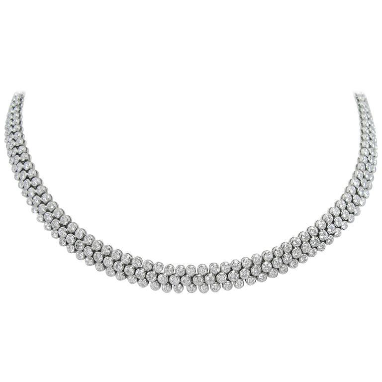 Cartier Paris Diamond  Platinum Necklace