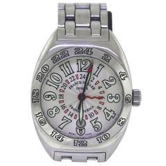 FRANCK MUELLER Transamerica GMT Stainless Steel Watch