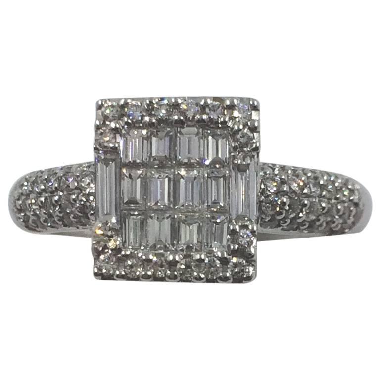 Modernist Diamond Ring