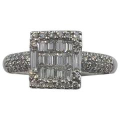 Modernist Diamond Ring