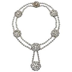 Early XIXth Century Diamond Silver and Gold Necklace