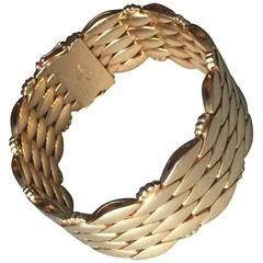 Georg Jensen Harald Nielsen Gold Bracelet No 1086