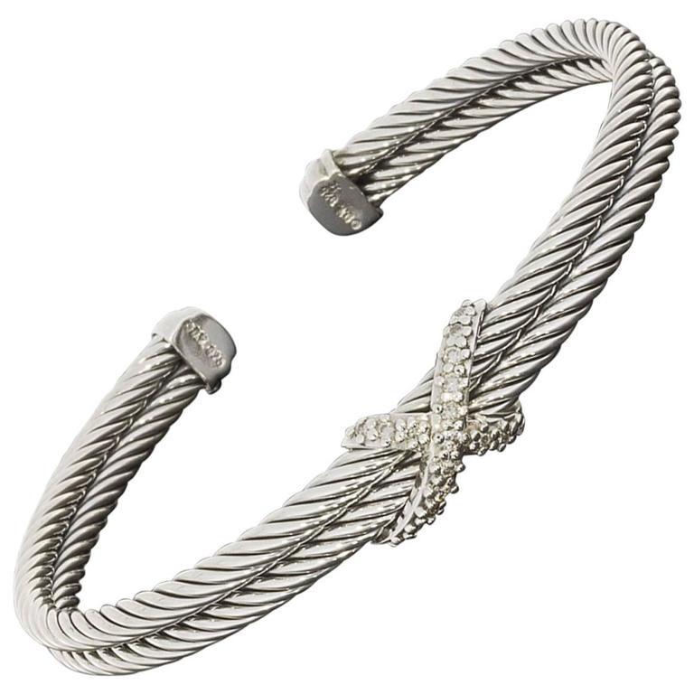 Double Cable Cuff Bracelet