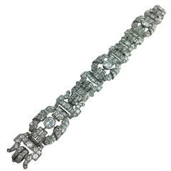 1925 Diamond Platinum Panel Bracelet