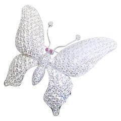 18K White gold Diamond Butterfly Brooch