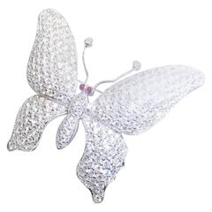 18K White gold Diamond Butterfly Brooch