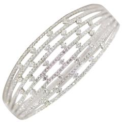 Contemporary Diamond Cuff Bracelet