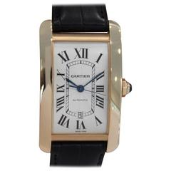 "Cartier Rose Gold Tank Americaine Extra Large ""Jumbo"" Wristwatch Ref W2609856"