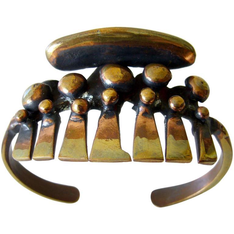 Jack Boyd San Diego Studio Bronze Cuff Bracelet For Sale
