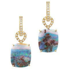 Cassandra Goad Octavia Opal, Diamond and Gold Earrings