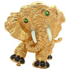 Van Cleef & Arpels  Gold Elephant Brooch