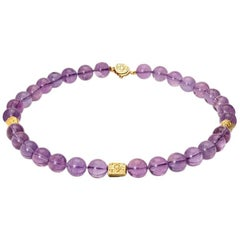 Cassandra Goad Teatro Massimo Amethyst Beaded Necklace