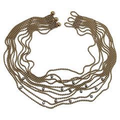Cartier Diamond Gold Chain Necklace