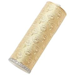 Boucheron Diamond Gold  Platinum Lipstick Case