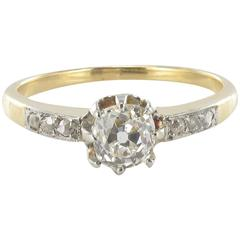 French Antique Solitaire Diamond Ring