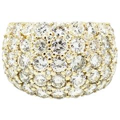 3.82 carats Pave Diamond Wide Band Ring
