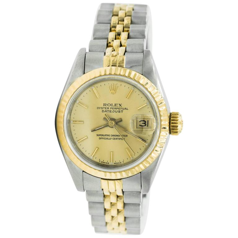1980s Ladies Rolex Datejust Two Tone with Jubilee Bracelet 1