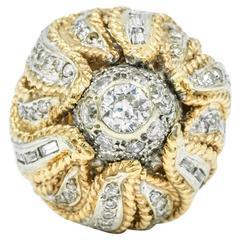 1960s Diamond Cocktail Ring