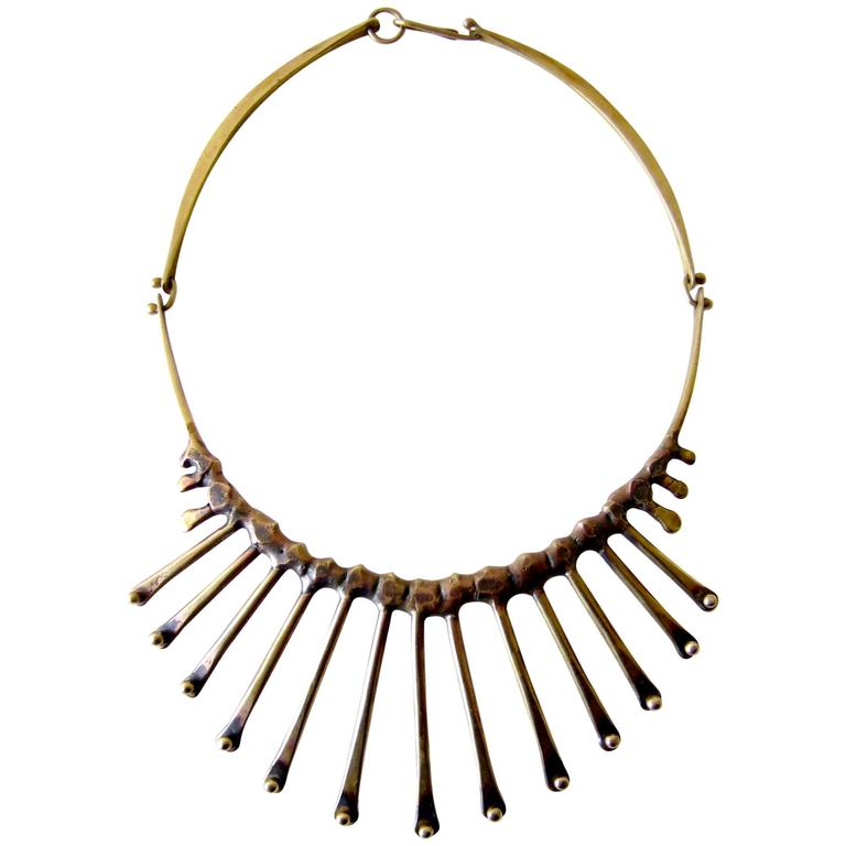 Jack Boyd Bronze Hand-Forged Spike Necklace