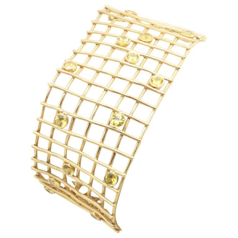 Moritz Glik Yellow Sapphire Gold Snake Chain Bracelet