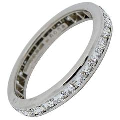 Tiffany & Co. Diamond And Platinum Eternity Band Ring
