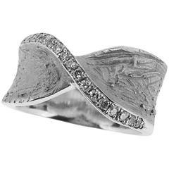 S. Van Giel Diamonds Gold Gothic Wedding Ring