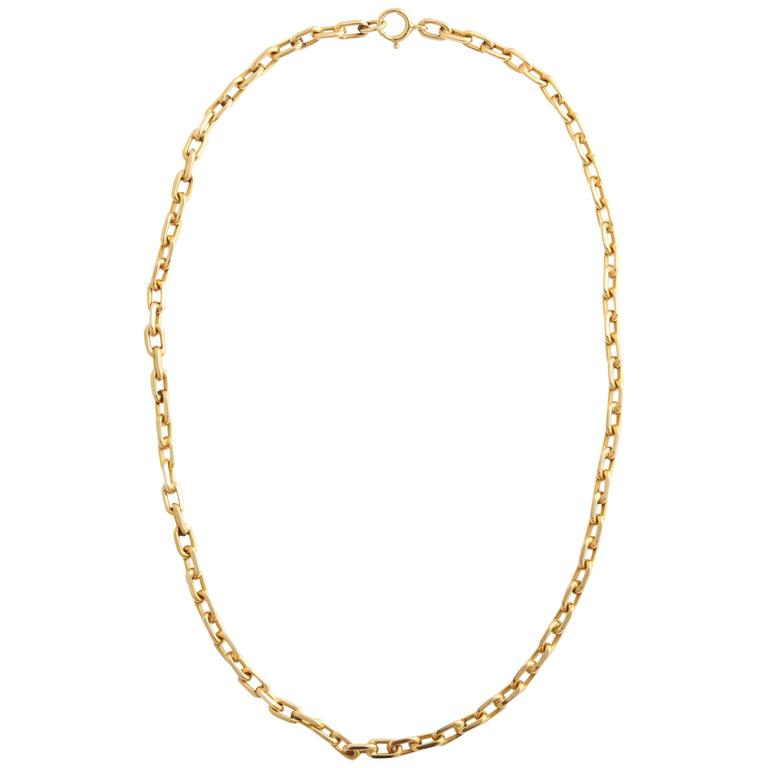 and co beautiful 14 karat gold link necklace for