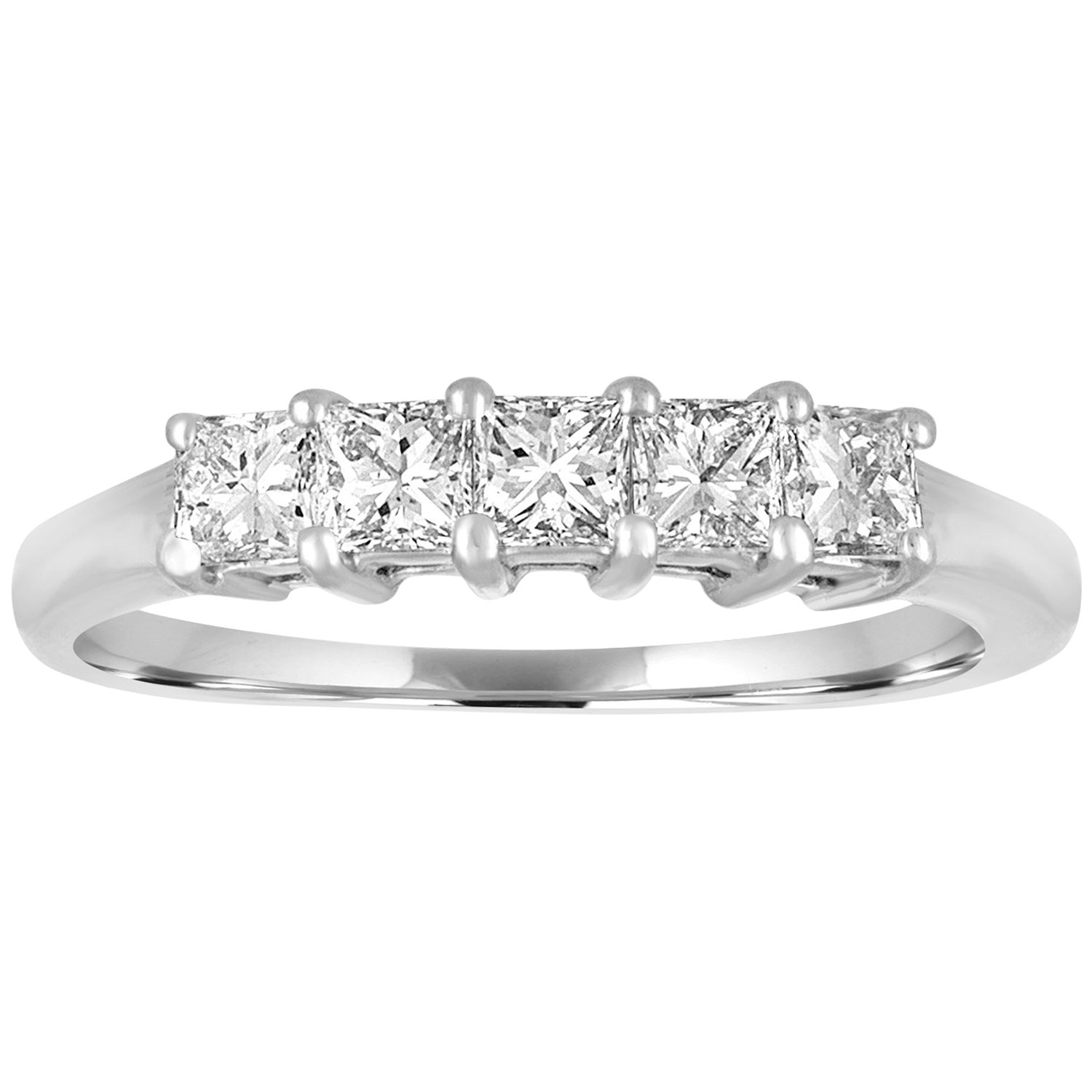 Diamond Half Eternity Ring 0 50 carat Platinum Band Pre Owned at