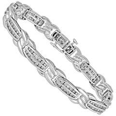 3.25 Carats Diamond Gold Tennis Bracelet