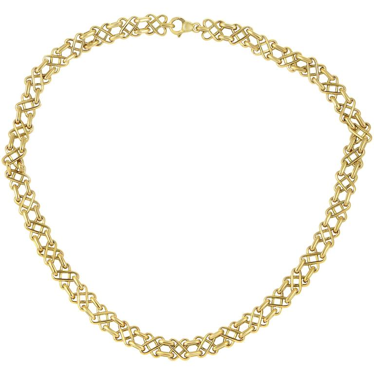 Tiffany & Co. Yellow Gold Collar Necklace For Sale