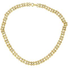 Tiffany & Co. Yellow Gold Collar Necklace