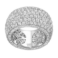 Diamond Pave Gold Eternity Band Ring