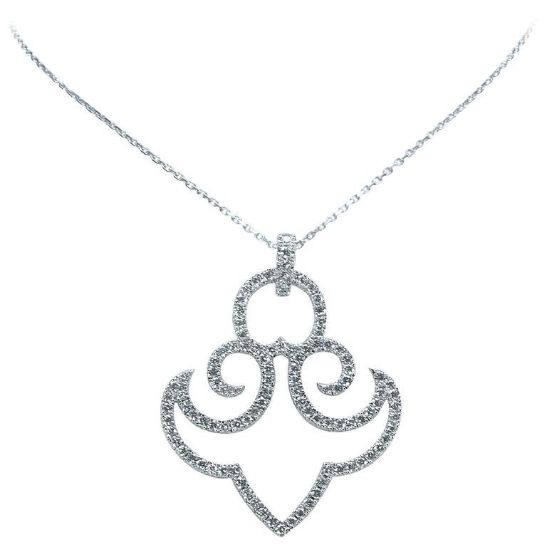 Marion Jeantet Diamond Gold Anchor Pendant