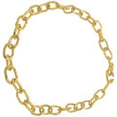 Jean Mahie Large Gold Cadene Link Necklace