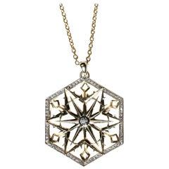 Snow Queen Diamond Gold Necklace