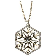 Snow Queen Diamond Gold Necklace