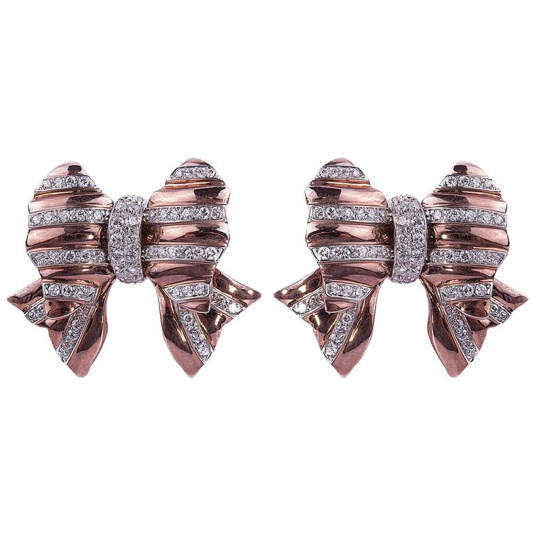 Repossi Diamond Gold Earrings 1