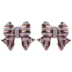 Repossi Diamond Gold Earrings