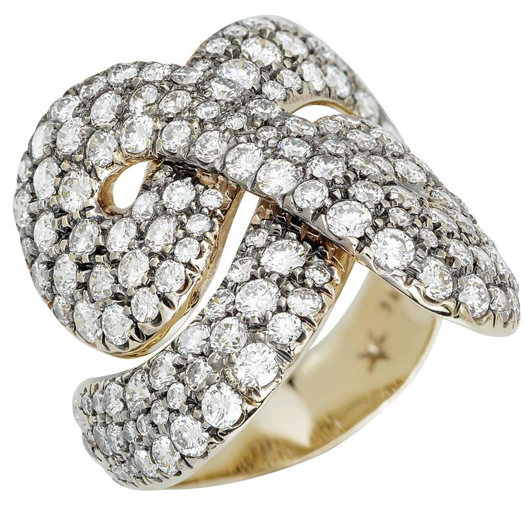Engagement Rings Sterns: H. Stern Diamond Gold Zephyr Ring At 1stdibs