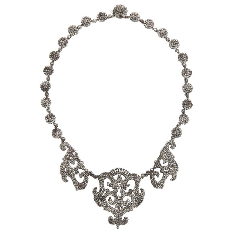 1820s Early Cut Steel Necklace  1