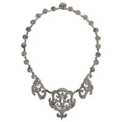 1820s Early Cut Steel Necklace