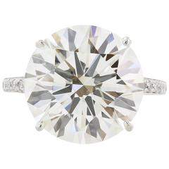10.06 Carat GIA Cert Round Diamond Platinum Engagement  Ring