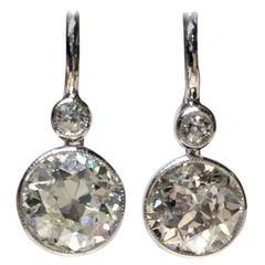 Diamond Drop Earrings 2.20 Carat