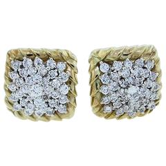 Tailored Diamond Gold Earrings