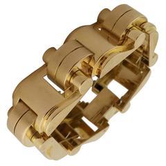 1940s Rose Gold Tank Bracelet.