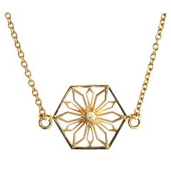 Snowflakes Honor Gold Necklace