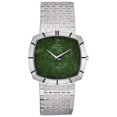 Piaget 18K White Gold Jade Dial Automatic Wristwatch