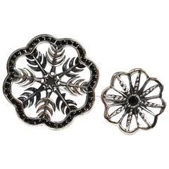 Snow Queen Black Sapphire Ring